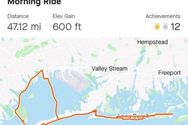 morning training ride